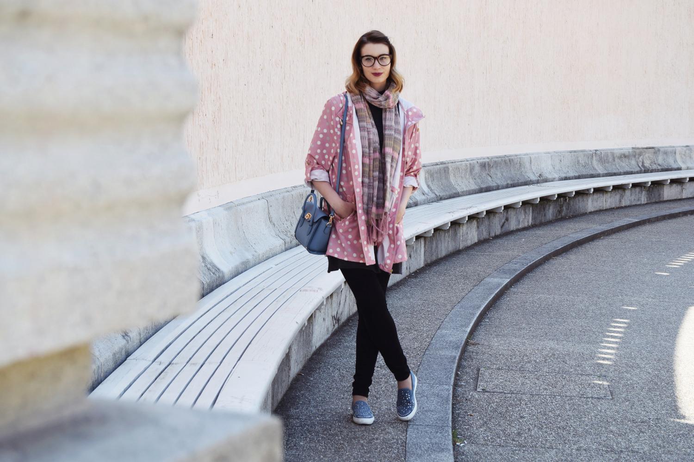 Fashion_cute_pink_dots_raincoat_Zalabell_1