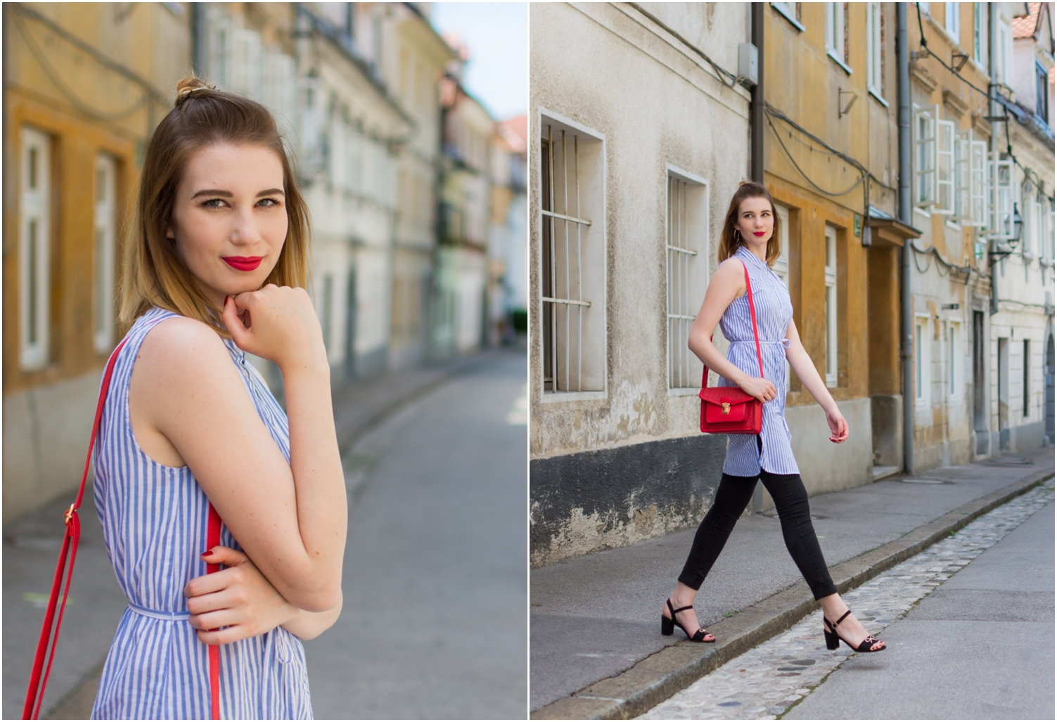 Zalabell_fashion_summer_blue_shirt_red_bag_2