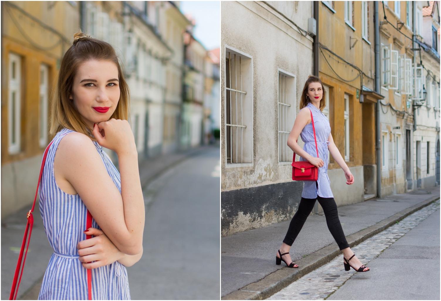 Zalabell_fashion_summer_blue_shirt_red_bag_2