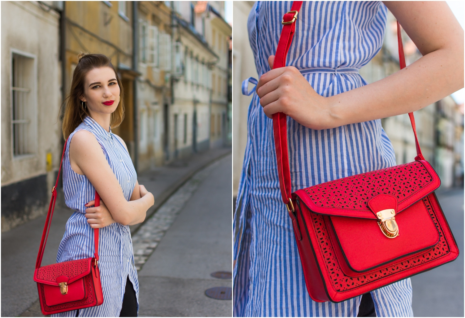 Zalabell_fashion_summer_blue_shirt_red_bag_4