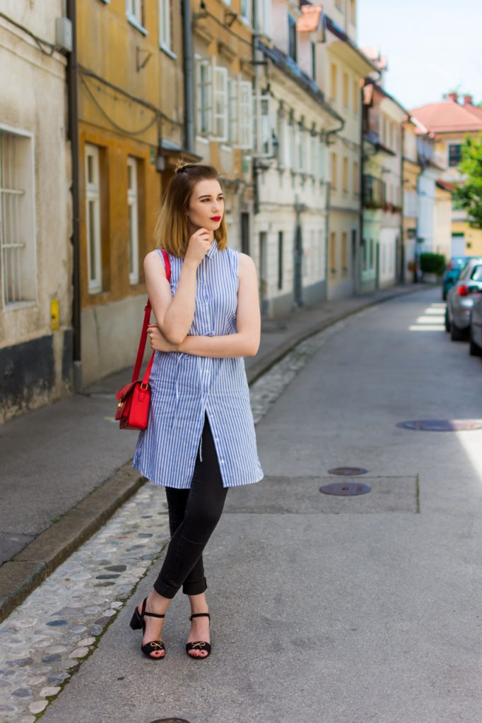 Zalabell_fashion_summer_blue_shirt_red_bag_5