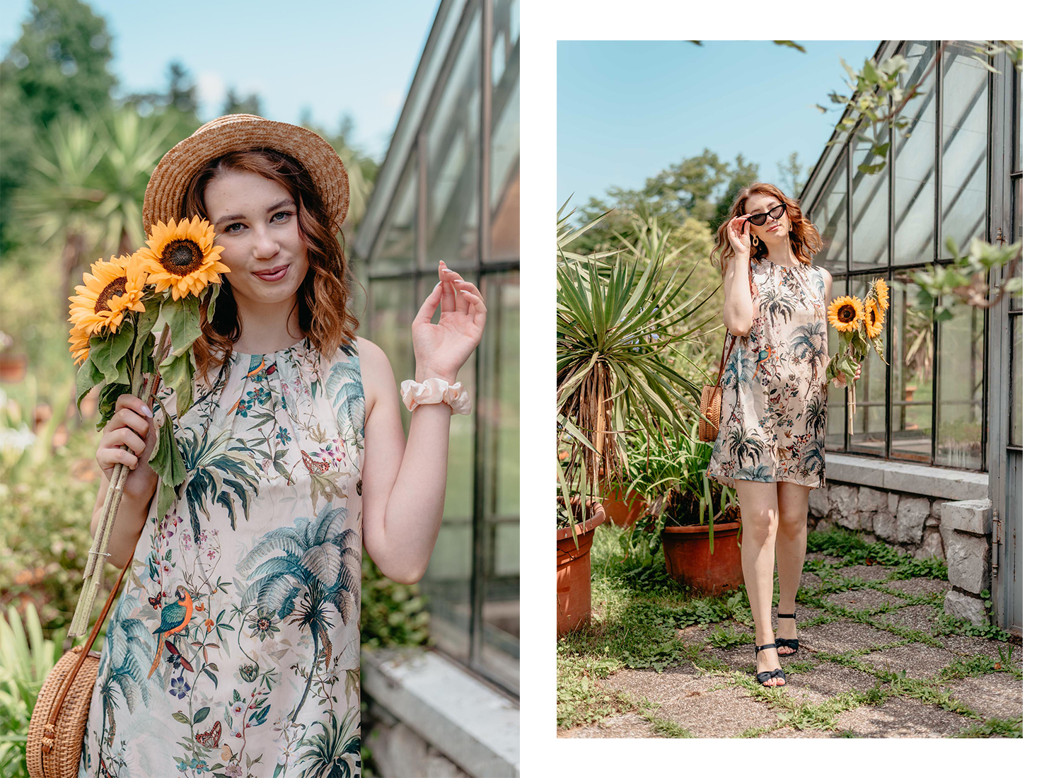Deichmann-sandals-Zalabell-summer-outfit-HM-tropical-dress