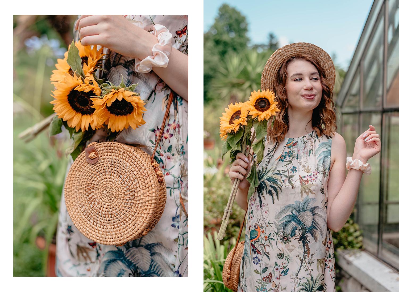 Deichmann-sandals-Zalabell-summer-outfit-HM-tropical-dress