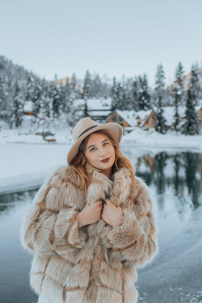 kranjska gora, jezero jasna, slovenija, outfit, portrait