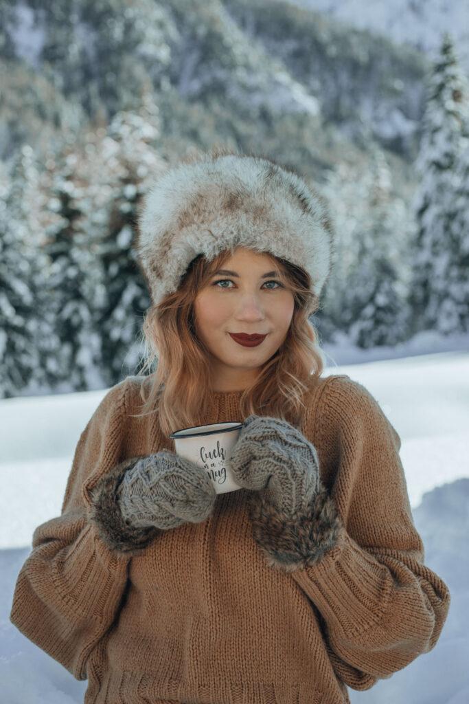 snow, portrait, photography