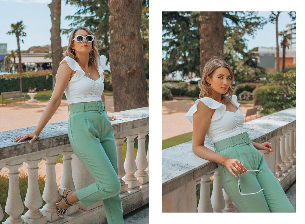 Gioseppo shoes, summer outfit, mint, white, Zala zagoricnik, Zalabell