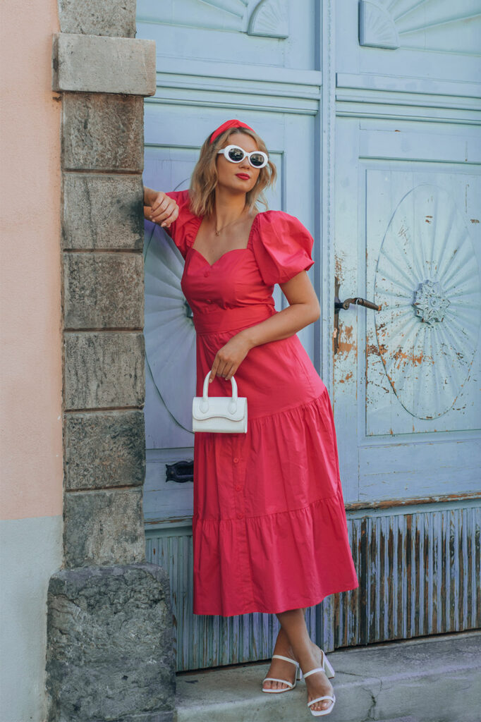 fracomina, sportina, shoppster, zalabell, zala zagoričnik, dress, poletna obleka